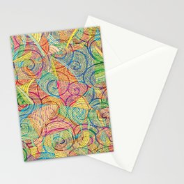 Colorful pattern (a little geometry) Stationery Cards