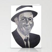 frank sinatra Stationery Cards featuring Frank Sinatra -- Ol' Blue Eyes by Bradlee254