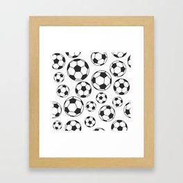 Soccer Balls Framed Art Print