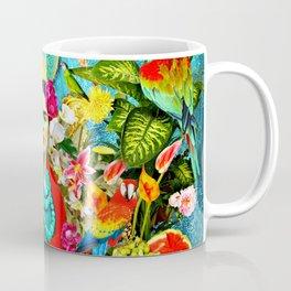 Frida Kahlo with Mexican Motifs Coffee Mug