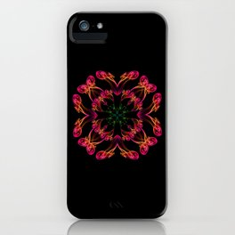 Exotic smoke flower iPhone Case
