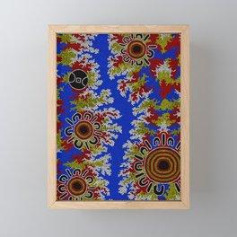 Authentic Aboriginal Art - Waterholes Corela Framed Mini Art Print
