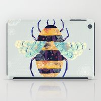 bee iPad Cases featuring bee by Yellow Button Studio