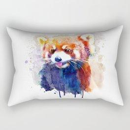 Red Panda Portrait Rectangular Pillow