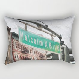 Malcom X Blvd Rectangular Pillow