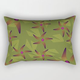 Floral Army Rectangular Pillow