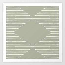 Geo (Linen Sage) Art Print