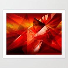 Abstrakt - Feuer der Leidenschaft Art Print
