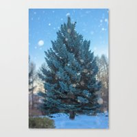 christmas tree Canvas Prints featuring Christmas tree  by Svetlana Korneliuk