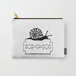 snail on razor blade Carry-All Pouch