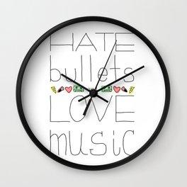 Hate/Love Wall Clock