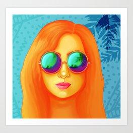 vida en el verano Art Print