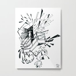no exit Metal Print