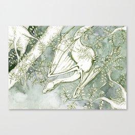 Chaudeleau the Green Marsh Dragon Canvas Print