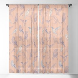 Birds Sheer Curtain