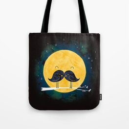 Moonstache Tote Bag