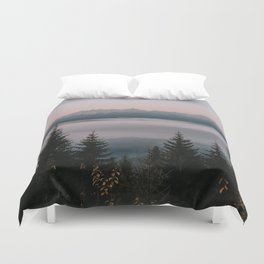 Faraway Mountains - Landscape and Nature Photography Duvet Cover