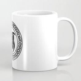 The Triple horn of Odin (black) Coffee Mug