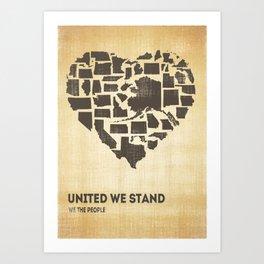 United we stand - Vintage  Art Print