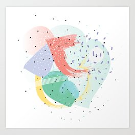 90's abstraction Art Print