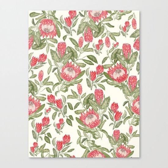 Protea Pattern Canvas Print