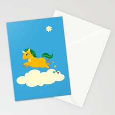 The golden unicorn of glitter poo Stationery Cards