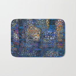 Iridescent Abstract Snakeskin Texture Bath Mat