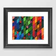 Pattern #1 Tiles Framed Art Print