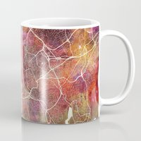 oslo Mugs featuring Oslo by MapMapMaps.Watercolors