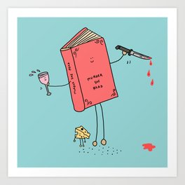 Murder She Read Art Print
