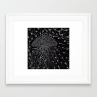 jelly fish Framed Art Prints featuring Jelly Fish by OKAINA IMAGE