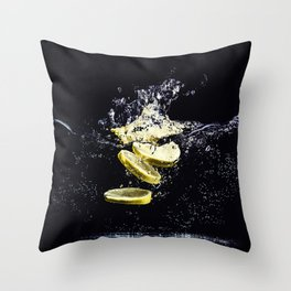 Lemon Plunge Throw Pillow