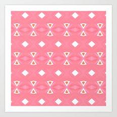 Geo Triangle Peach 3 Art Print