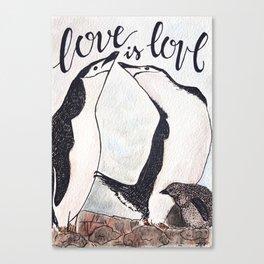 Bird no. 51: Love is love Canvas Print
