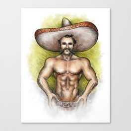 Sexy Mexican Revolutionary Canvas Print