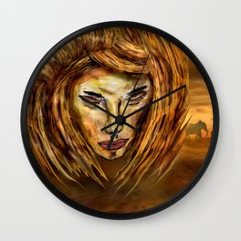 The King of Africa Wall Clock