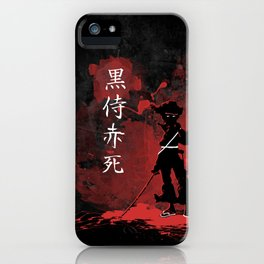 Black Samurai Red Death iPhone Case