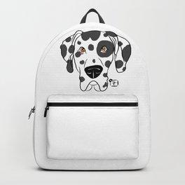 Harlequin Great Dane Face Backpack