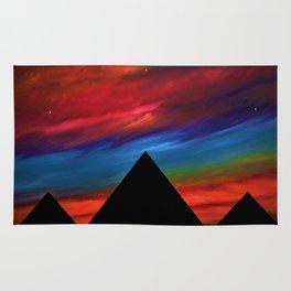 Fire Sky - Pyramids Silhouette Rug