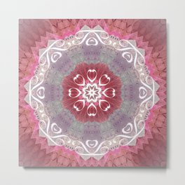 "Pastel Hidden ""Text"" Mandala Metal Print"