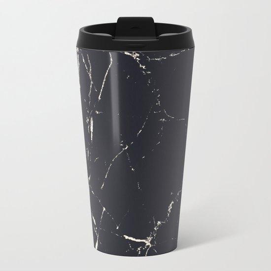 Matte marble Metal Travel Mug