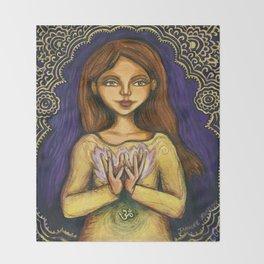 Lotus Throw Blanket