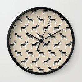 Schnauzer minimal basic dog art pattern design perfect gifts for schnauzers dog breed Wall Clock