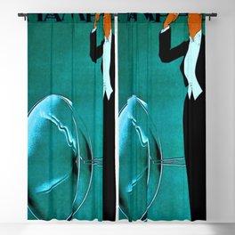 Vintage Champagne Veuve A. Devaux, Paris, France Jazz Age Roaring Twenties Advertisement Poster Blackout Curtain