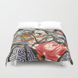 Mosaic with Asian plates Duvet Cover