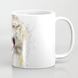 sabertooth tiger portrait watercolor Coffee Mug