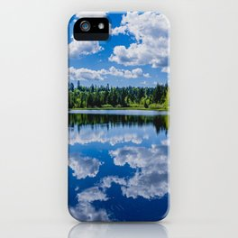 The lake Etang des Royes in the canton of Jura in Switzerland iPhone Case
