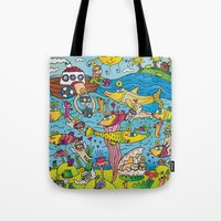 angels Tote Bags featuring Angels by Kamil Kopecky