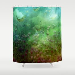"""""""The Enchanted Forest"""" (Fairyland) Shower Curtain"""