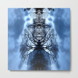 Tree Man Night photography Metal Print